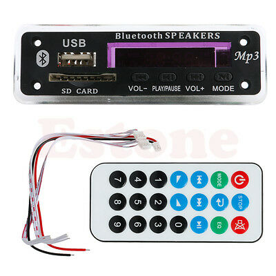 Bluetooth 12V MP3 WMA Decoder Board Audio Module TF USB Radio for Car