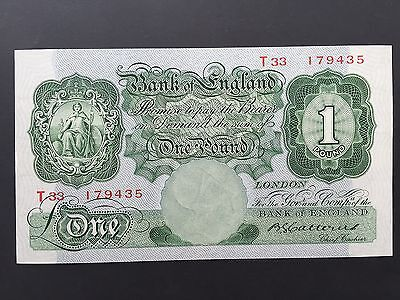 Great Britain Bank England 1 Pound Catterns B225 T33 179435 Issued 1930 UNC