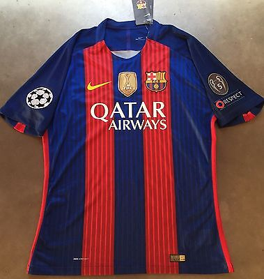 FC Barcelona BRACA JSY Player Size Home Football Shirt Name Number 2016/2017 New