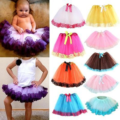 Baby Girls Kids Tutu Dress Skirt+Top Clothing Set Birthday Gift Photography Prop