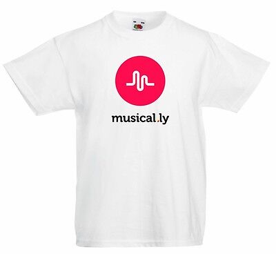 Musical.ly graphic printed 100% cotton T shirt  youth size XS S M L XL T-73