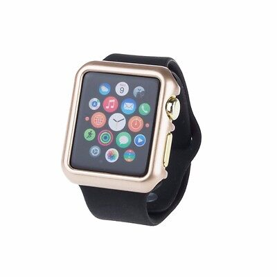 Gold For Apple Watch Case Protector Cover iWatch 38mm Protective Skin Bumper