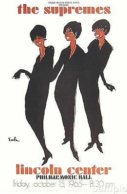 The Supremes Vintage Music Concert Philharmonic Hall Motown Poster A4 Reprint