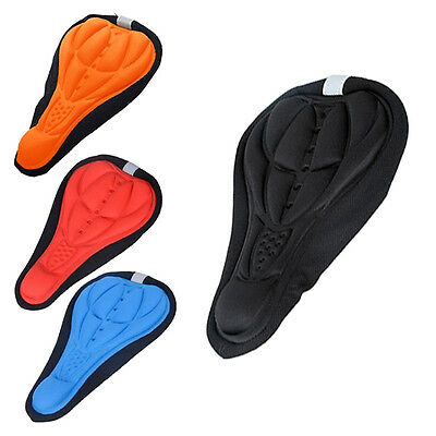 Cycling Bicycle Bike Silicone Saddle Seat Cover Silica Gel Cushion Soft Pad Mat