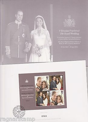 2011 Royal Wedding Prince William and Kate Presentation folder with FDC