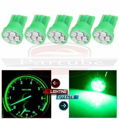5PCS Pure Green T10 Side Wedge 3020 6SMD LED Bulbs Instrument Guage Dash Light