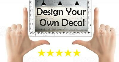 Personalised Wall Sticker Custom Stickers Vinyl Decal Mural Design Your Own