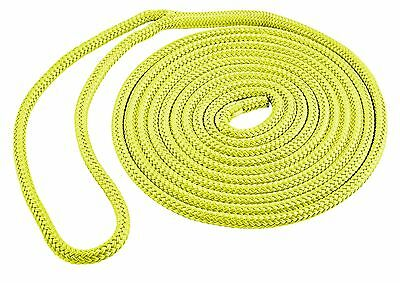 "DOUBLE BRAID DOCK LINE  1//2/"" X 20FT  50-39751 RED 4 PAC 15/"" EYE SPLICE BOAT ROPE"
