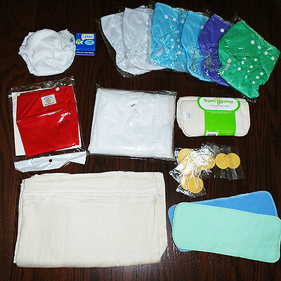 Cloth Diapering Starter Kit - Tons of Items, Great for Baby Shower Gift