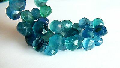 Blue Fluorite faceted onion briolette- 2 Pairs