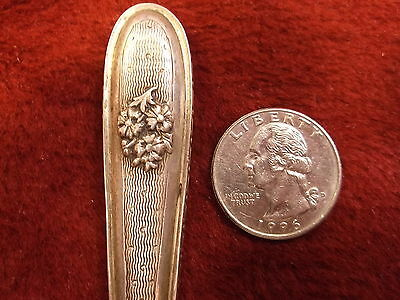 Nice Old Vtg Antique Sterling Silver (Handle) Nail File, Art Nouveau Flowers