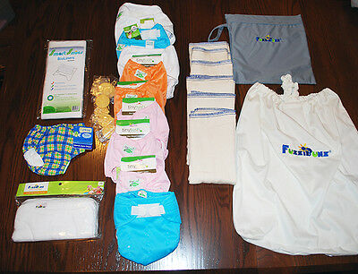Cloth Diaper Clearance - Great Kit for Girl Baby Showers!