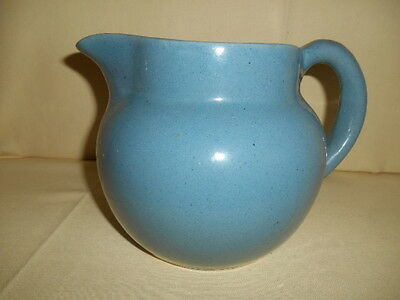 Vintage Bybee Pottery Kentucky Blue Water Milk Ball Pitcher