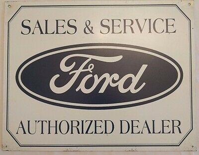 Ford Sales & Service Authorized Dealer tin sign, Vintage Style, used (1608056)