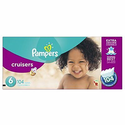 Pampers Cruisers Diapers Economy Plus Pack, Size 6, 104 Count