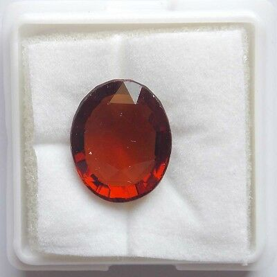 7.65cts Certified Natural UNHEATED Oval HESSONITE GARNET Loose Gemstone Ceylon