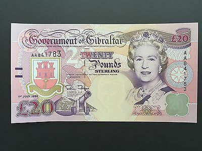 Gibraltar 20 Pounds P27 Dated 1st July 1995 Uncirculated UNC