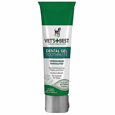Vet's Best Enzymatic Dental Gel Toothpaste for Dogs, (Packaging May Vary) AOI