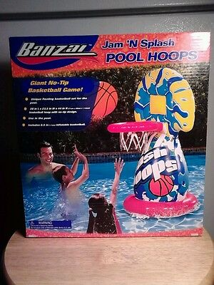 New Banzai Jam N Splash Pool Hoops