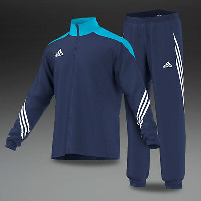 Boys Kids adidas tracksuit Full Zip Football Tracksuits Bottoms Jogging Navy