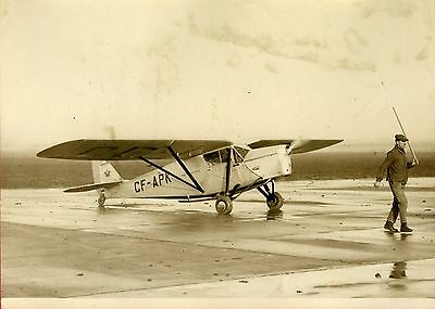 """Atterrissage de HINCKLER au BOURGET 1931"" Photo originale G. DEVRED (Agce ROL)"