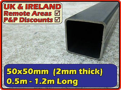 "Mild Steel Square Tube (box iron section) | 50x50mm (2"") 50mm 2mm 