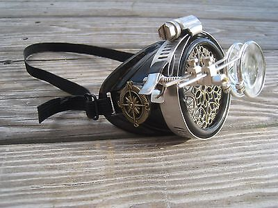 Steampunk Monocle R with Key Necklace
