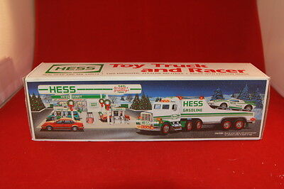 New 1991 Hess Toy Truck and Racer with Friction Motor NIB