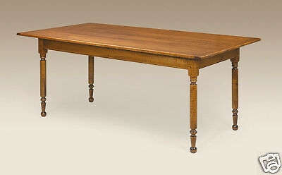 Farm Table - Dining Room - Tiger Maple Wood - Farmhouse Kitchen Table
