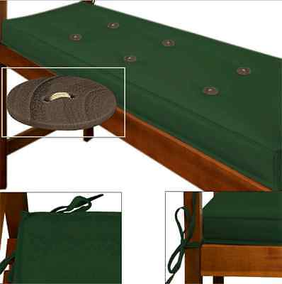 Cushion Bench Outdoor Furniture Garden Patio Pillow 2 Seater Pad Seat Green Home