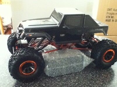 NEW HSP 1/10 RC Remote Control Rock Crawler Truck 2WS 94180  2.4GHz* Black