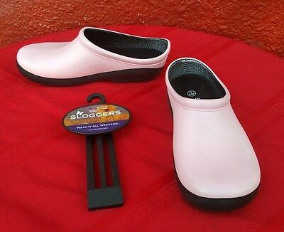New Sloggers Pink Garden Outfitters Shoes Clogs Premium Insoles USA Sz 9 USA ✞