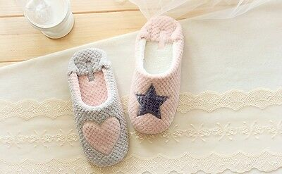 Winter Soft Cute Warm Star Indoor Anti-slip Slippers shoes for Adult Men/Women