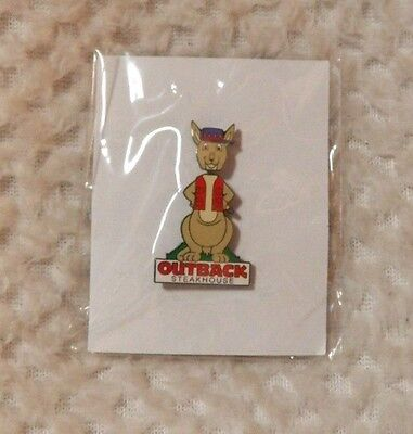 Outback Steakhouse Bobble Head Kangaroo Lapel Pin Sealed