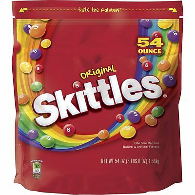 Skittles Original Candy, 54 ounce bag  from Skittles Bite-size colorful chew AOI