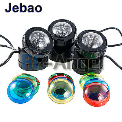 Set of 3 Jebao LED Underwater Deco Spot Pond Fountain Garden Light Super Bright