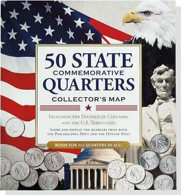 50 State Commemorative Quarters Collector's Map (includes, Peter Pauper Press