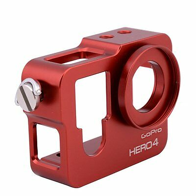 Red CNC Protective Case Shell Housing Side Open for GoPro Hero 4