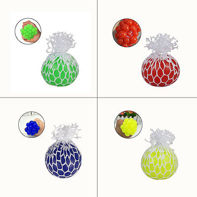 Squishy Mesh Grape Ball Squeeze Stress Venting Toy Pressure Hand Reliever Fruity