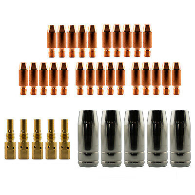 Mig MB25 Conical 35 Piece KIT- 0.9mm - Binzel Style - Shroud - Contact Tip SB25