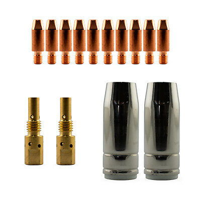Mig MB25 Conical 14 Piece KIT- 1.2mm - Binzel Style - Shroud - Contact Tip SB25