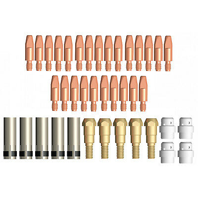 Mig MB24 39 Piece KIT- 0.8mm - Binzel Style - Shroud - Contact Tip - Nozzle SB24