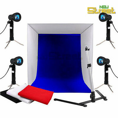 "16"" 40cm Cube Tent Softbox Lighting Photo Studio Soft Box Backdrop Light Kit New"