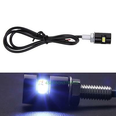 2pcs 12V White LED SMD Motorcycle&Car License Plate Screw Bolt Light Lamp Bulb