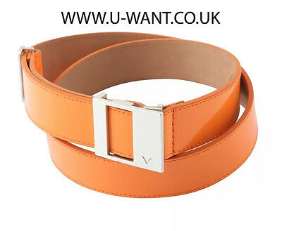 Callaway Golf Ladies Orange Leather Belt Size Medium   (1709)