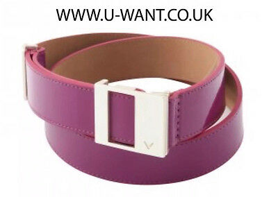 """Callaway golf ladies grape plum leather belt size small up to 32"""" waist   (1710)"""