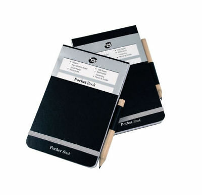 2 x A7 Pukka Police Style Pocket Notebook with Pencil - 96 Ruled Pages/reporter