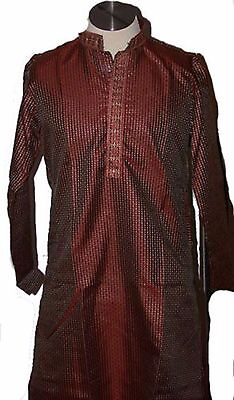 Burgundy Men Kurta Pyjama with Free shawl Party Traditional Ethnic Indian wear