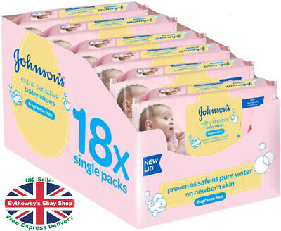 Johnson's Baby Wipes - 18 Pack (1008 Wipes)  *BRAND NEW*