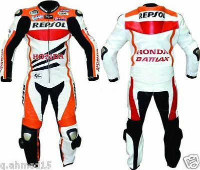 HONDA REPSOL Motorcycle Leather Suit Biker Leather Suit Motorbike Leather Suit